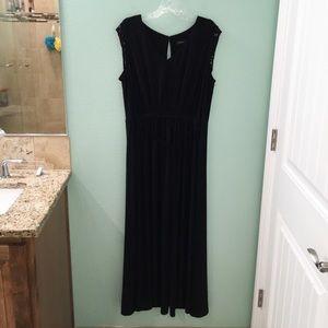 Lane Bryant Black Maxi Dress with Keyhole Cutout
